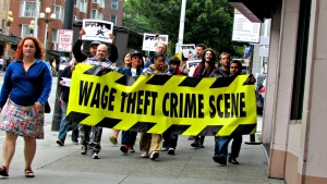 Anti-Wage Theft Protesters, Seattle 2013
