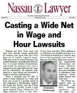 Nassau Lawyer Publishes Chris Marlborough's Article on the Joint Employer Doctrine